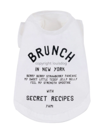 "Футболка ""Brunch in New York"" / белая 1502 LD"