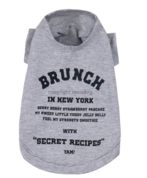 "Футболка ""Brunch in New York"" / серая 1502 LD"
