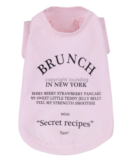 "Футболка ""Brunch in New York"" / розовая 1502 LD"